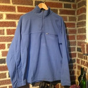 L.L. Bean pullover EUC medium blue & grey